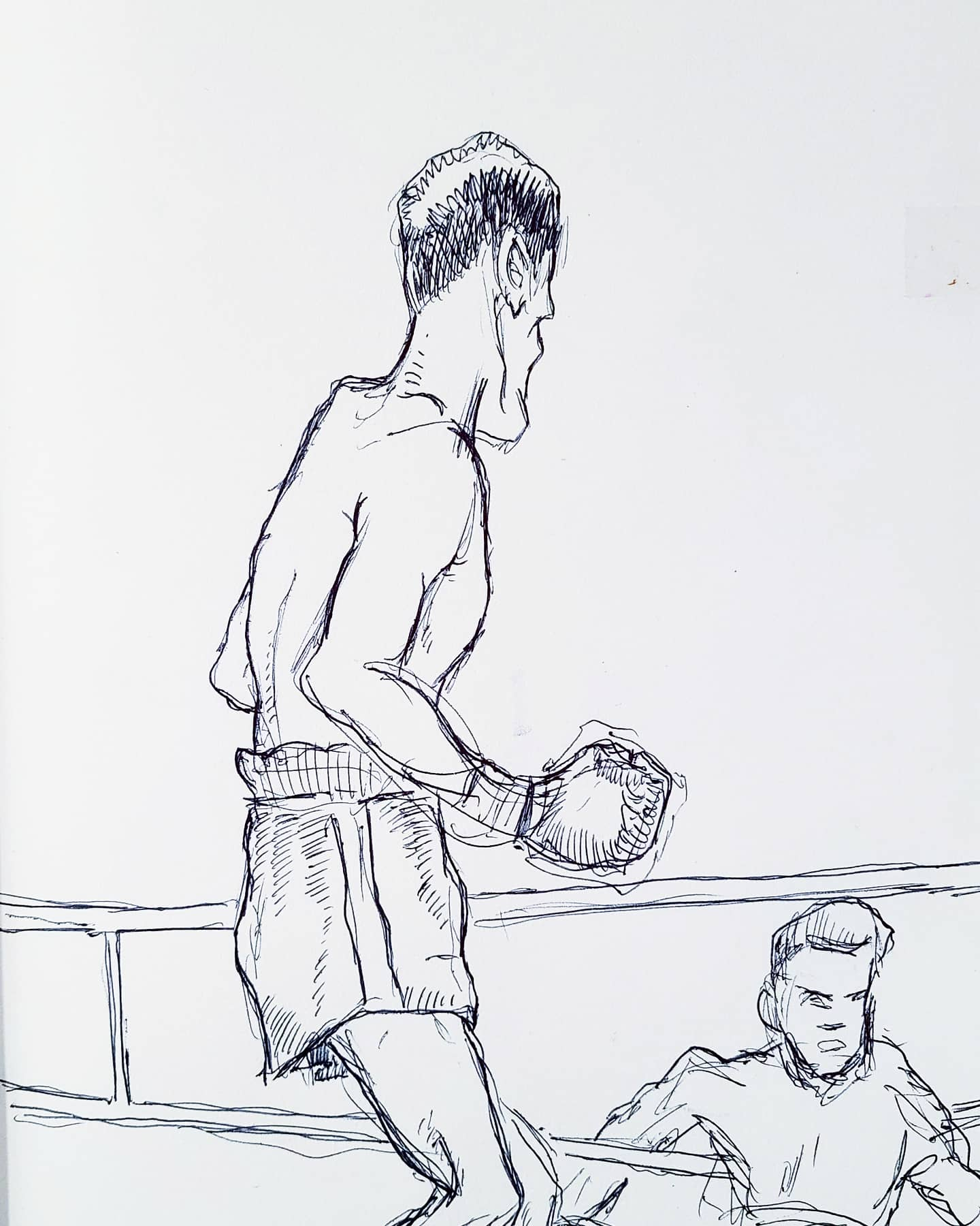 Boxers<br>Ballpoint Pen on Paper