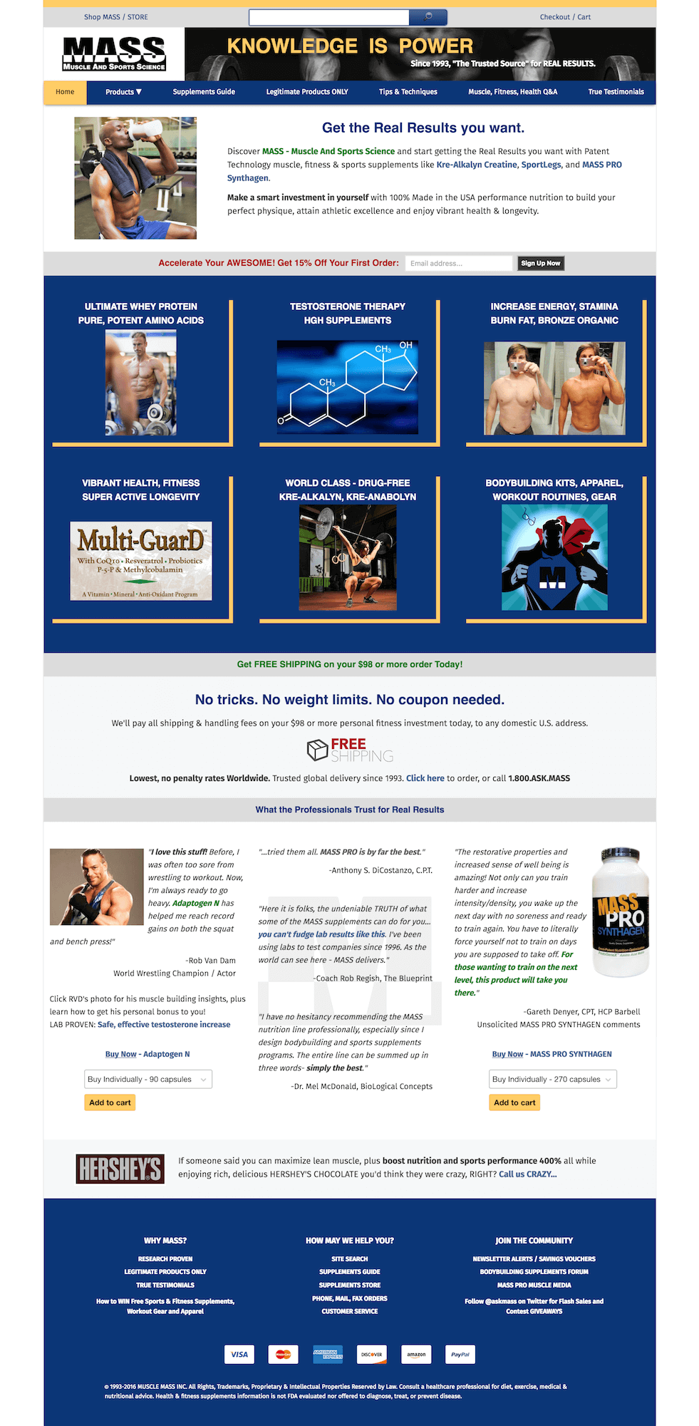 Bodybuilding supplements web design codegreer previous next project home page screenshot for mass bodybuilding supplements malvernweather Gallery